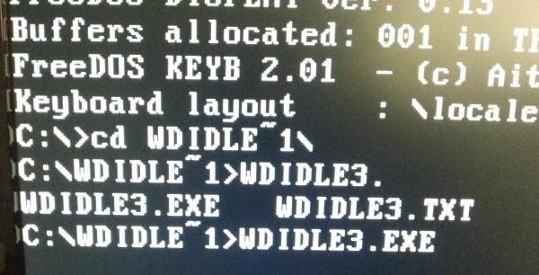 démarrer le programme WDIDLE3.EXE