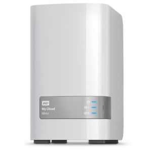 Un NAS de face Western Digital MY CLOUD MIRROR