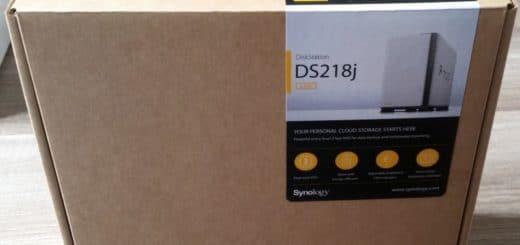 Boite en carton du NAS DS218J