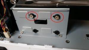 Ergots en caoutchouc pour les disques durs