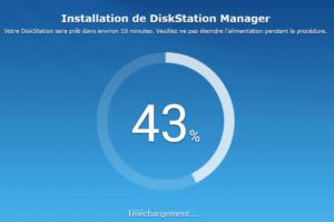 Installation du DiskStation Manager de Synology 43%