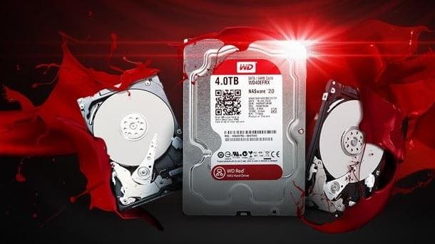 Un disque dur NAS de Western Digital 4TB