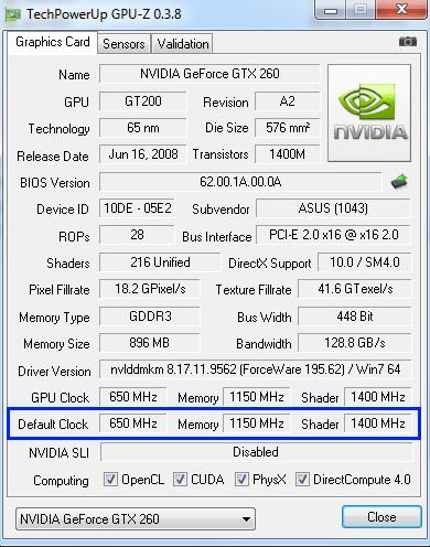 GPU-Z pour voir les performances de la carte graphique